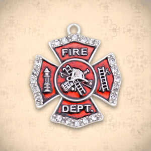 Occupations- Crystal Firefighter Charm