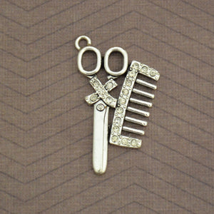 Occupations- Crystal Hairdresser Charm