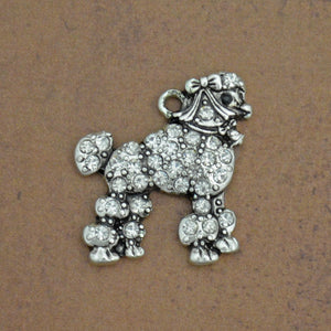 Pet Lover- Crystal Poodle Charm