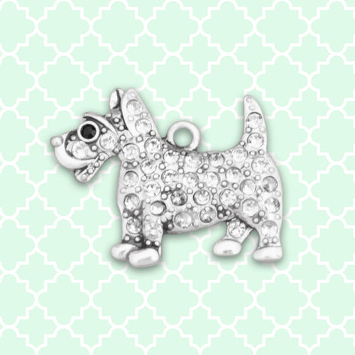 Pet Lover- Crystal Terrier Charm