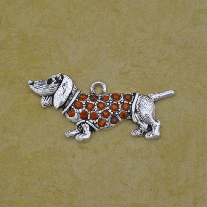 Pet Lover- Crystal Dachshund Charm