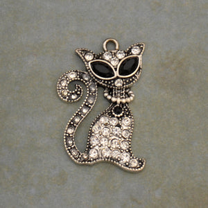 Pet Lover- Cat Sassy Crystal Charm