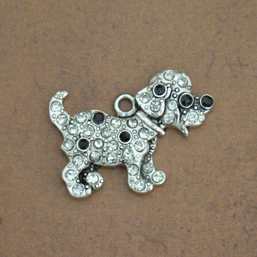 Pet Lover- Crystal Spotted Puppy Charm