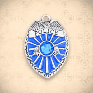 Occupations- Crystal Police Badge Charm