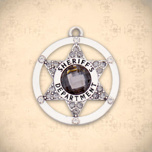 Occupations- Crystal Sheriff Badge Charm