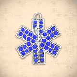 Occupations- Crystal EMT Symbol Charm