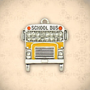 Occupations- Crystal School Bus Charm