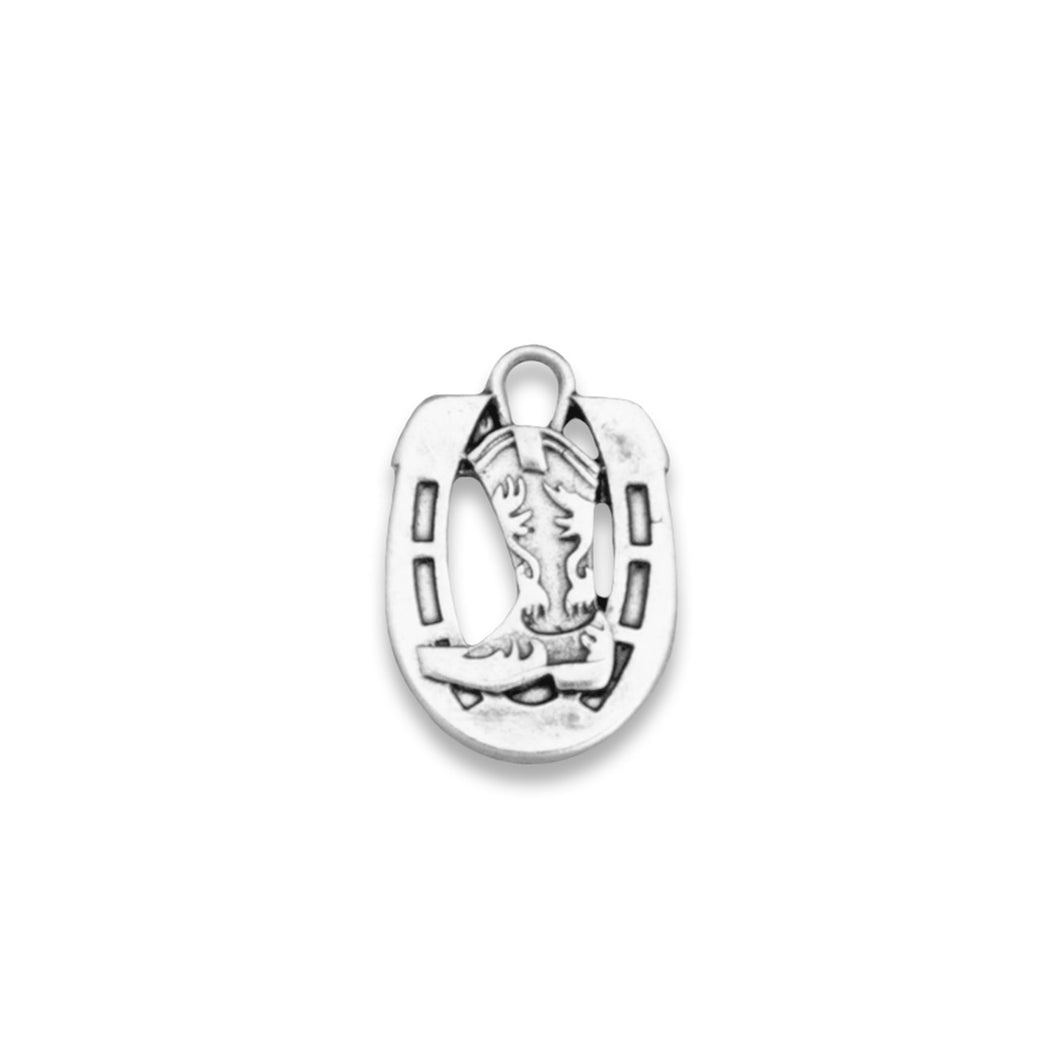 Horse Riding Shoes Western Accent Charm for Bracelets & Necklaces