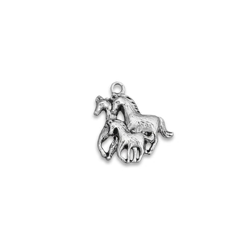 Three Running Horses Western Accent Charm for Bracelets & Necklaces
