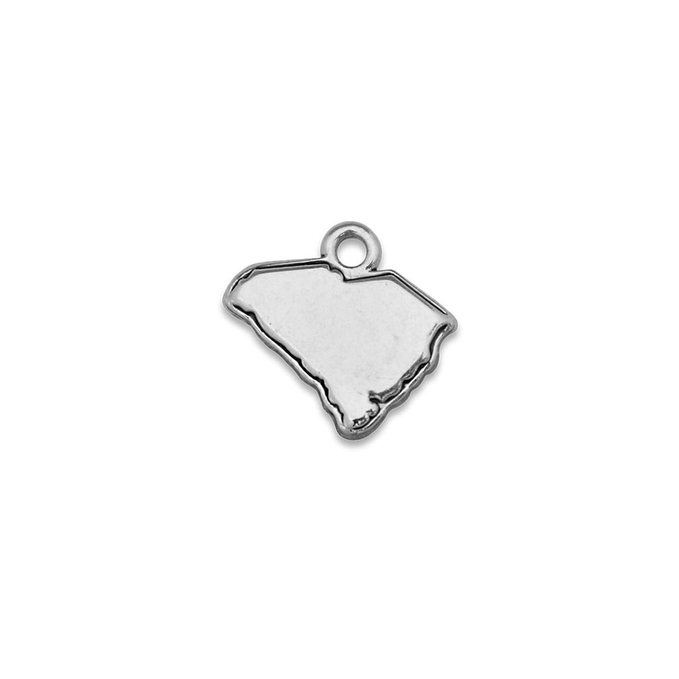 Accent States South Carolina Map Charm