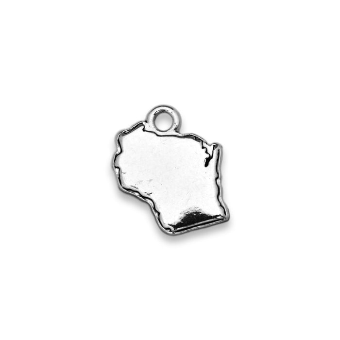 Accent States Wisconsin Map Charm
