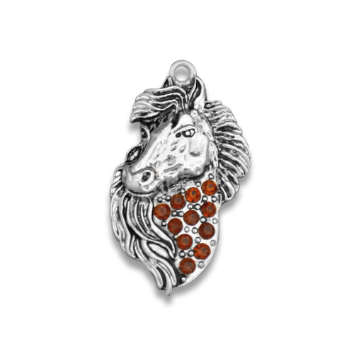 Crystal Brown Horse Western Charm for Bracelets & Necklaces