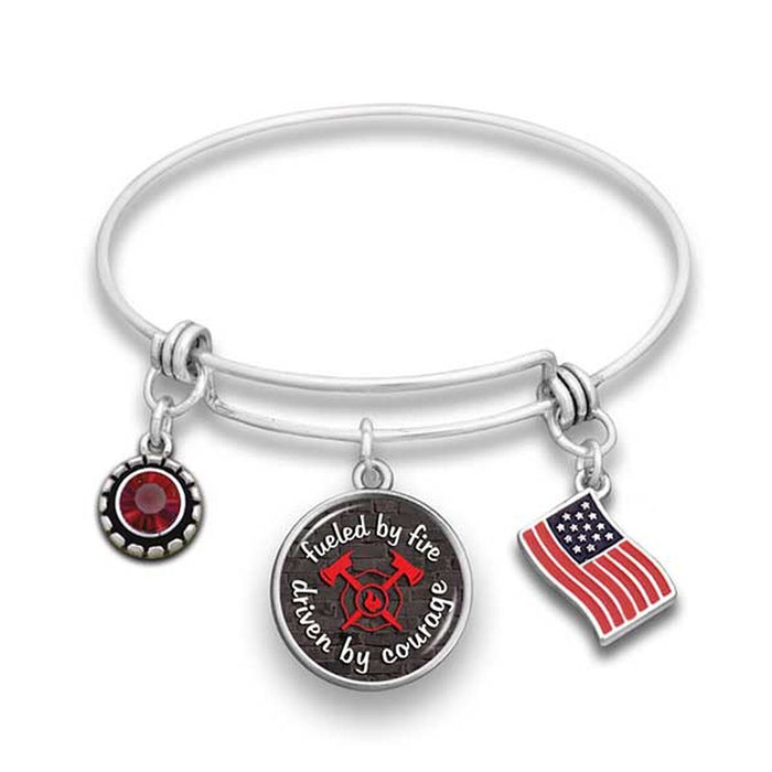 Firefighter Fueled By Fire Wire Bracelet