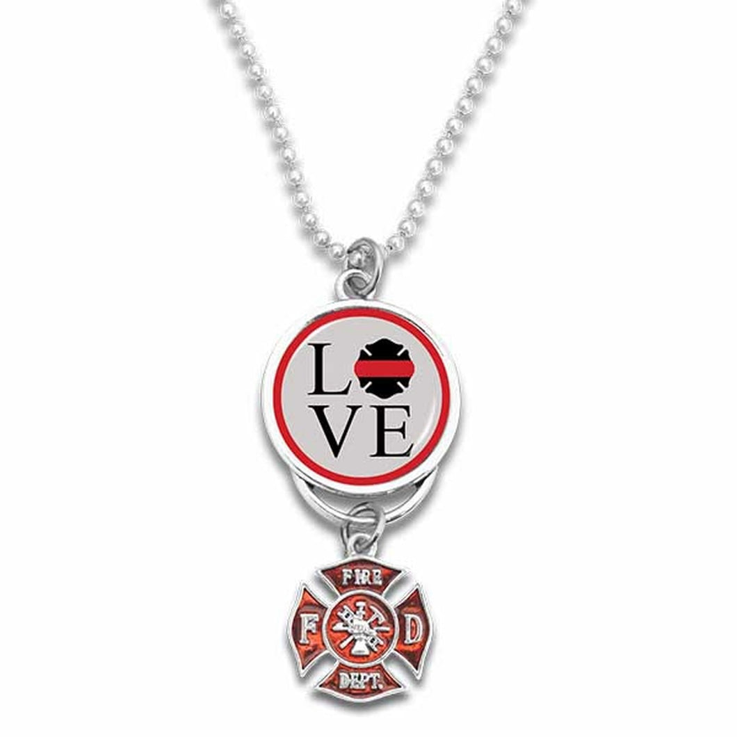 Firefighter Love Rearview Mirror Charm