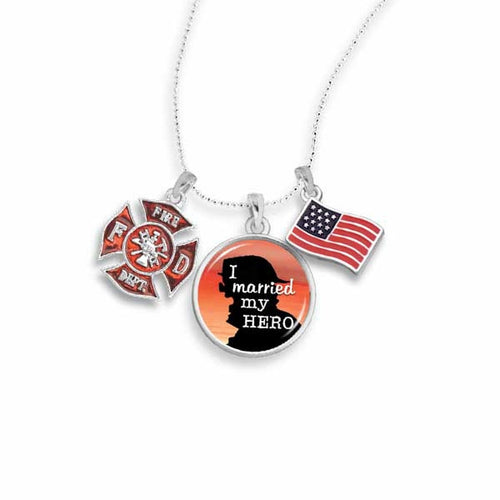 Married My Fireman Hero Necklace