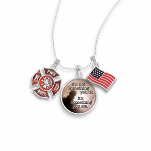 Firefighter Triple Charm Necklace
