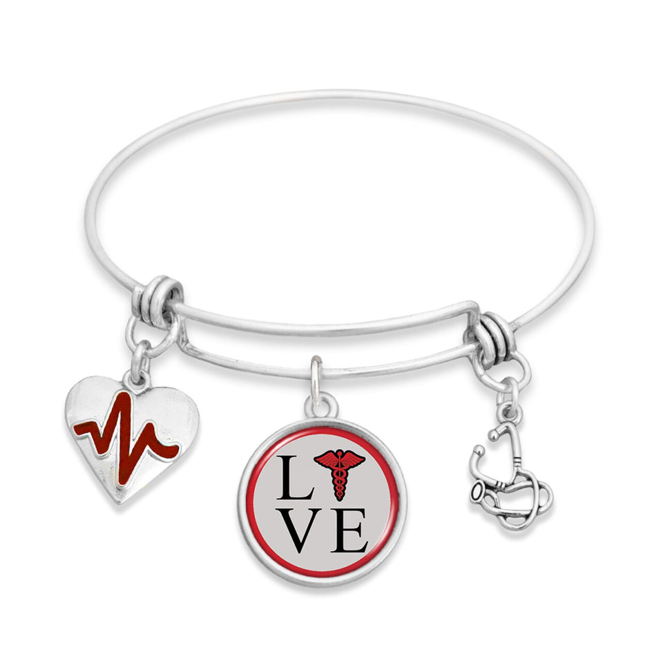 Nurse Love Wire Bracelet