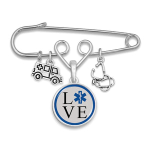 EMT Love Charm Brooch