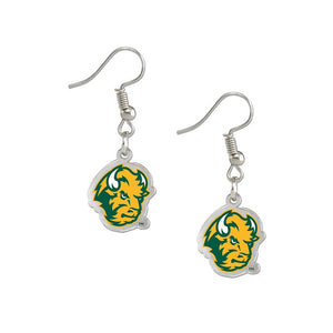 North Dakota State Bison Fan Earrings