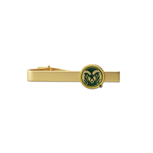 Colorado State Rams Gold with Green Logo Tie Bar