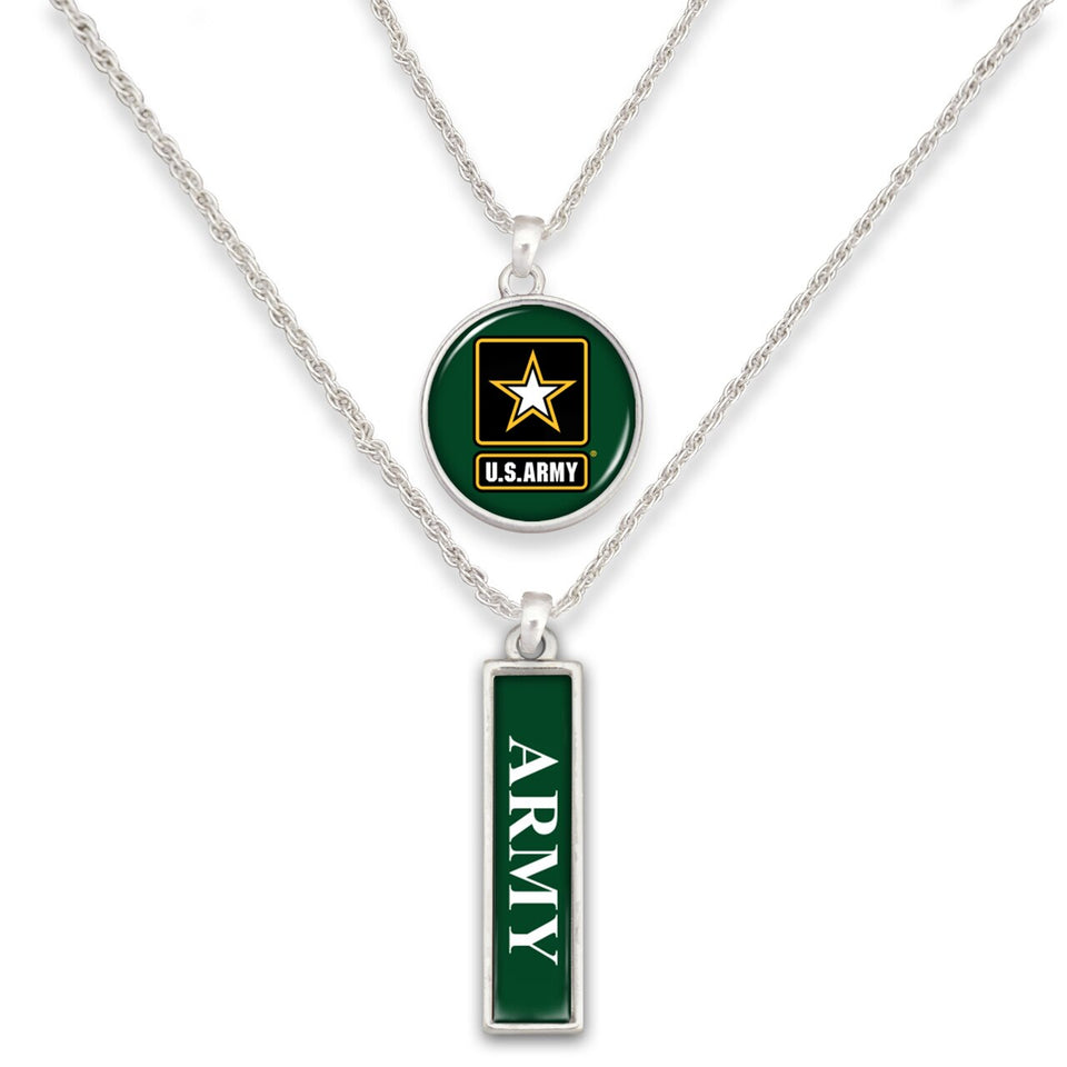 U.S. Army Double Down Necklace