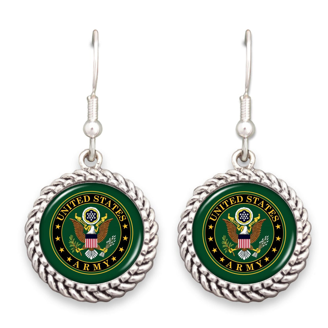 U.S. Army Seal Rope Edge Earrings