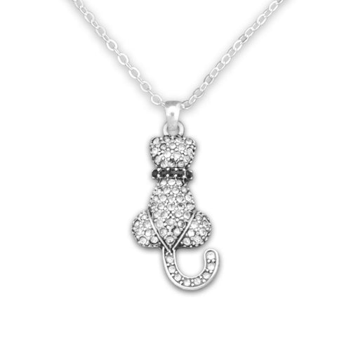 Pet Lover- Cat Crystal Necklace