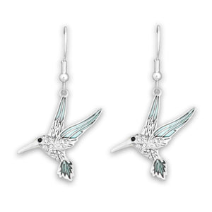 Hummingbird Crystal Charm Earrings