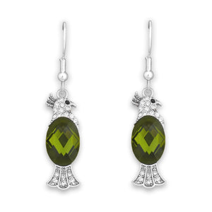 Parrot Crystal Charm Earrings