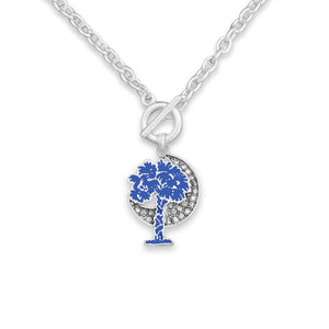 South Carolina State Pride ''Toggle Palmetto Moon Charm'' Necklace