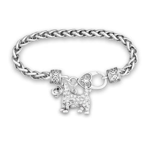 Pet Lover- Crystal Terrier Bracelet