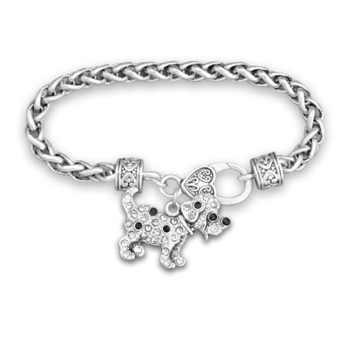 Pet Lover- Crystal Spotted Puppy Bracelet