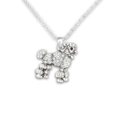 Pet Lover- Crystal Crystal Poodle Necklace