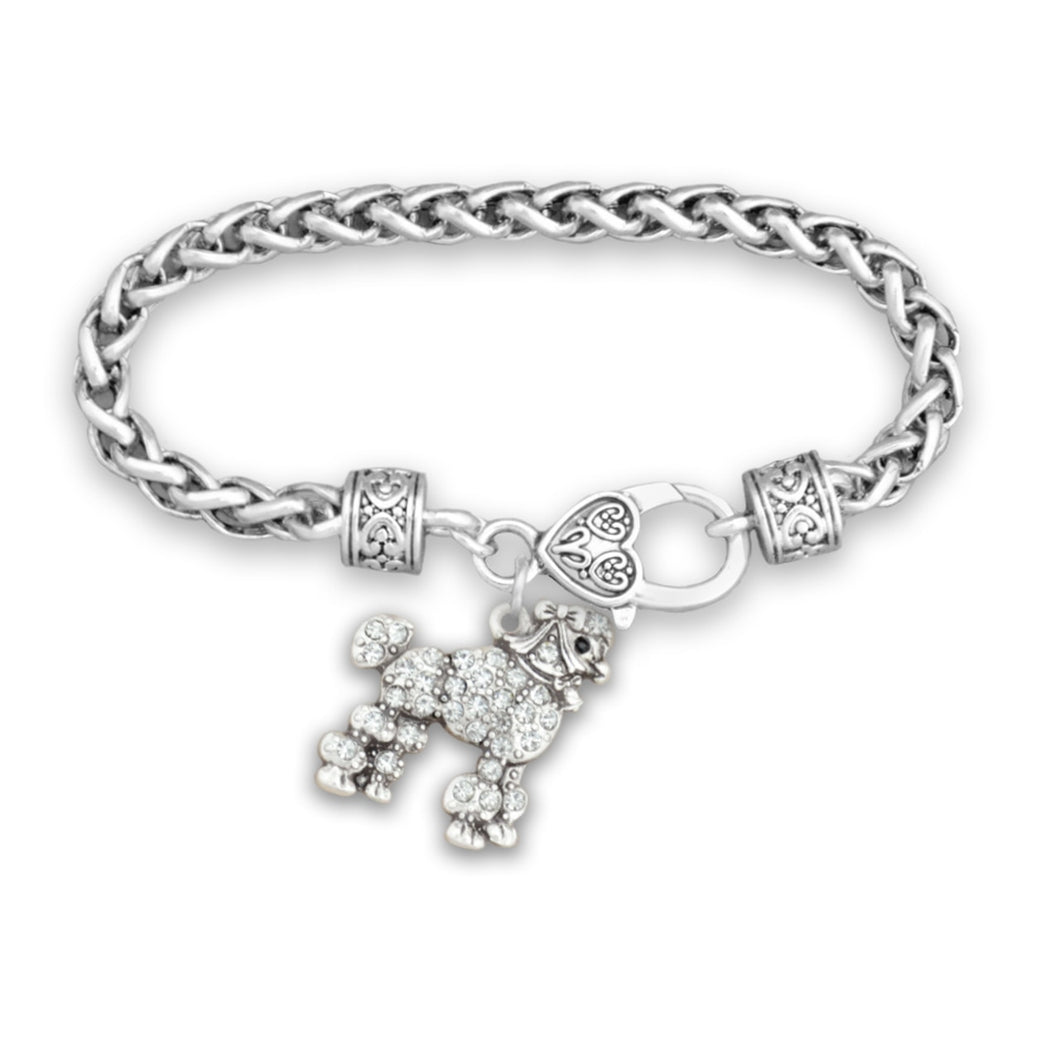 Pet Lover- Crystal Poodle Bracelet