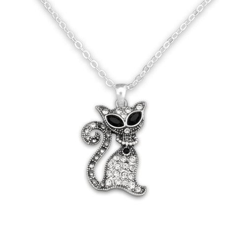 Pet Lover- Cat Crystal Sassy Necklace