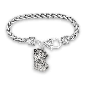 Pet Lover- Bulldog Crystal Bracelet