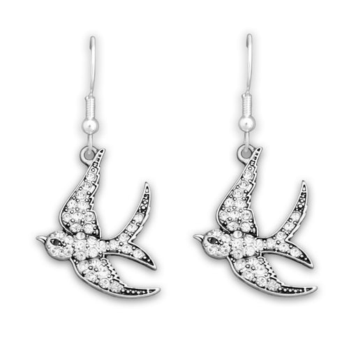 Sparrow Crystal Charm Earrings