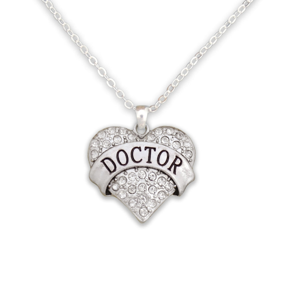 Crystal Doctor Heart Necklace