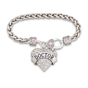Crystal Doctor Heart Bracelet
