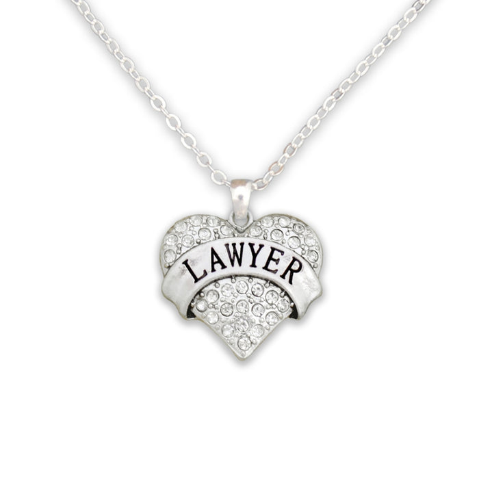 Crystal Lawyer Heart Necklace
