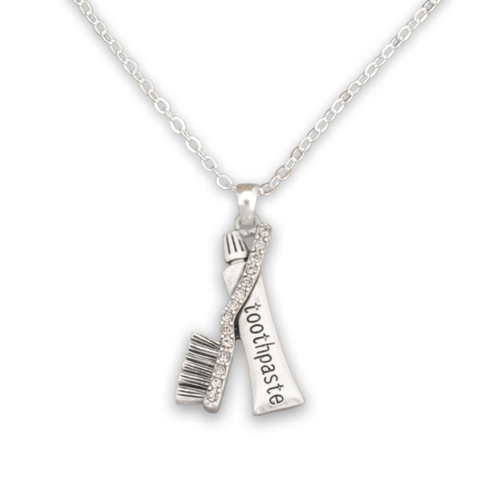 Crystal Toothpaste and Brush Dentist Charm