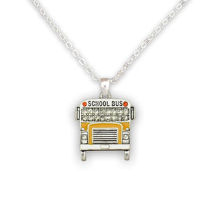 Crystal School Bus Necklace