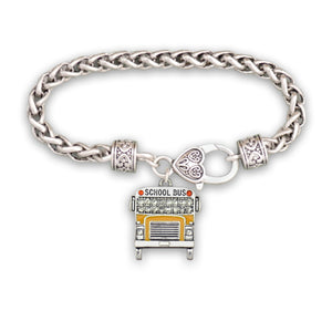 Crystal School Bus Bracelet