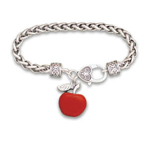 Enamel Teacher Apple Bracelet