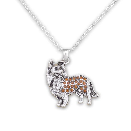 Pet Lover- Crystal Collie Necklace