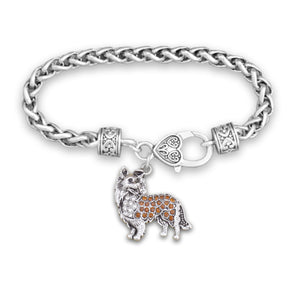 Pet Lover- Crystal Collie Bracelet