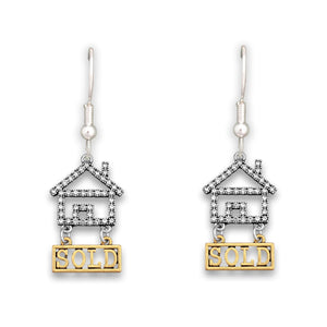 Crystal Real Estate Earrings