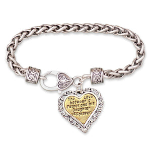 The Love Between Father and Daughter Braided Clasp Bracelet