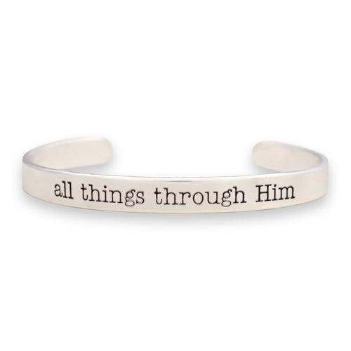 All Things Through Him Off the Cuff Collection Bangle Bracelet