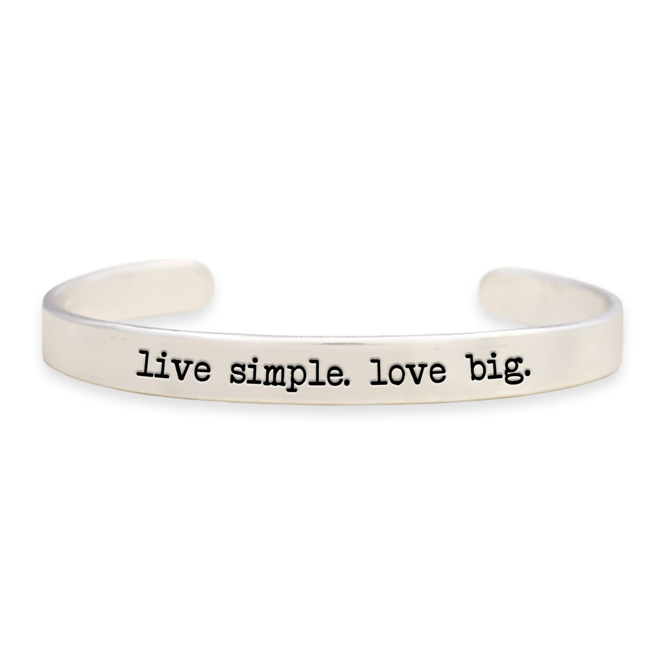 Live Simple. Love Big Off the Cuff Collection Bangle Bracelet